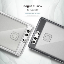 Original Ringke Fusion Huawei P9 Case Premium Soft TPU Frame with Anti-scratch coated PC Clear Back Cover Cases for Huawei P9