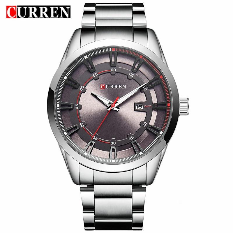 Curren Watches Men Brand Luxury Stainless Steel Quartz Watch Men Fashion Casual Dress Wristwatch Sport Clock Relogio Masculino стоимость