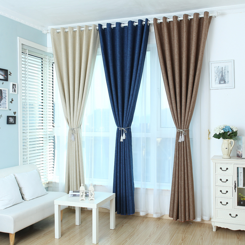morden living leaf american faux home aliexpress in window room linen item style blinds on from com bedroom garden printed for curtains