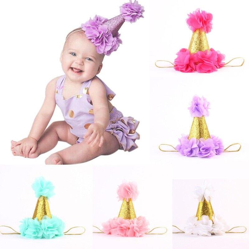 Baby Kids Infant Toddler Girl Princess Crown Flower Headband HairBand Headwear
