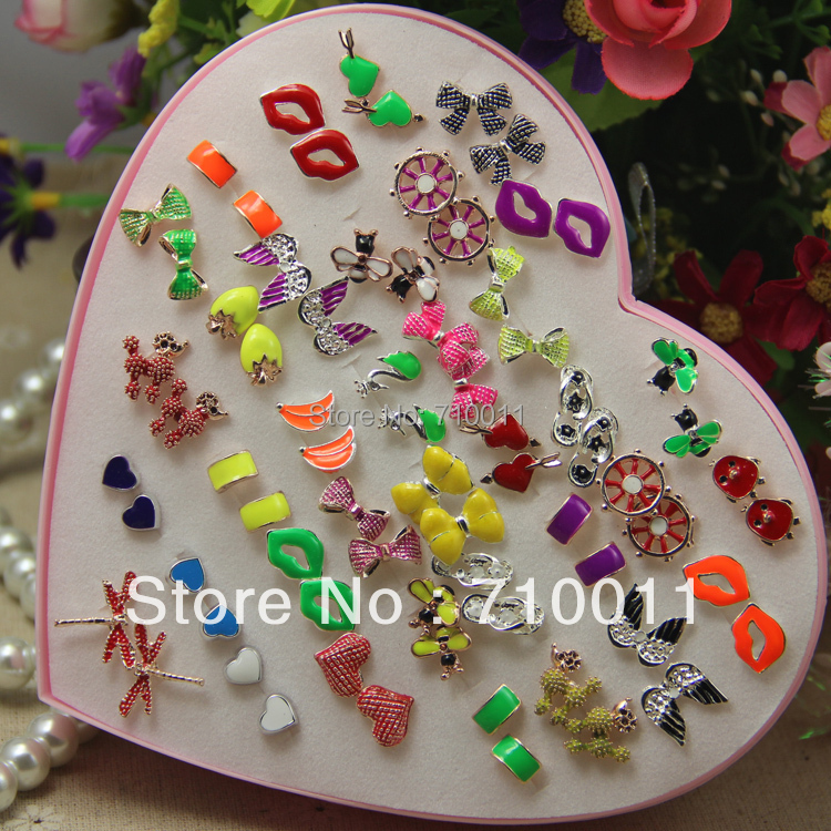 stud fun earrings colourful korean