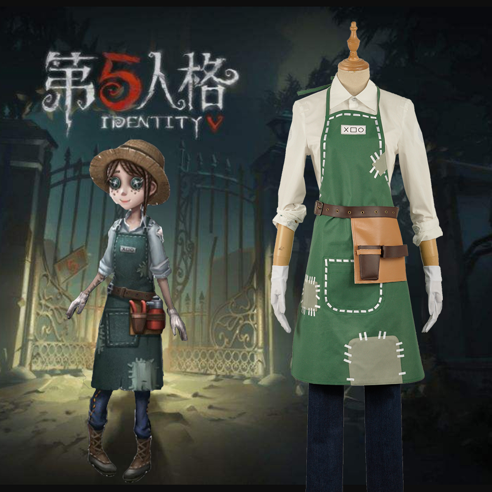 2018 Identity V The Fifth Personality Gardener Emma Woods Apron Maid Dress Outfit Cosplay Costume Adult