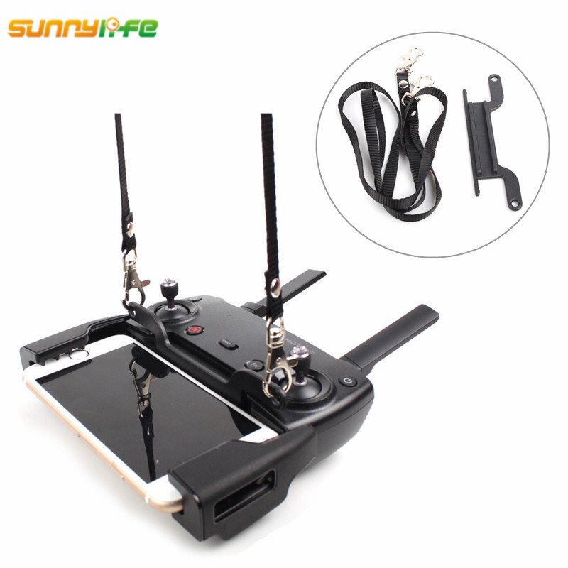 Sunnylife DJI Mavic Air Drone Télécommande Double-crochet Boucle Mount Bracket + Courroie De Cou pour DJI Spark DJI mavic Pro Platine