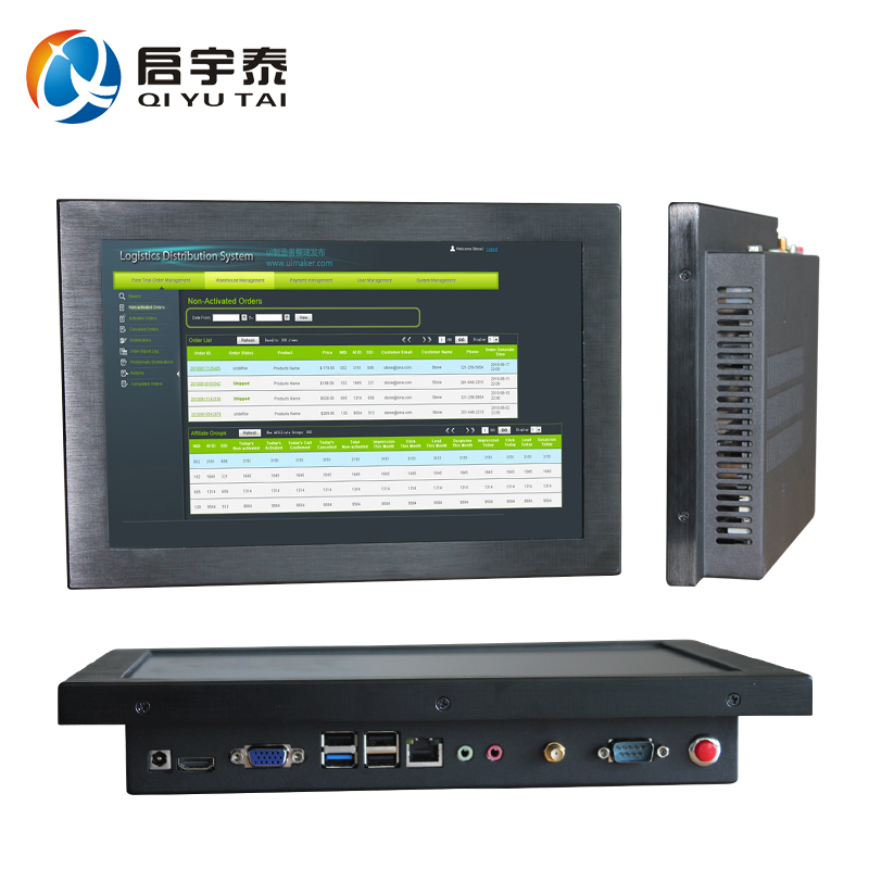 12 embedded computer Resistive touch wide screen Resolution 1280x800 4gb ddr3 32g ssd  industrial PC with intel N3150 1.6GHz