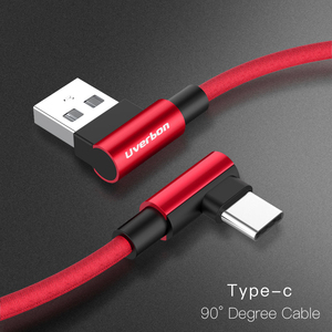 USB Type C Micro USB 90 Degree Fast Charging usb c cable L Type-c 3.1 data Cord Charger usb-c For Samsung S8 S9 Note 8 Xiaomi(China)