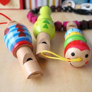 1pcs Infant Baby Kids Wood Whistling Toys Playing Type Educational Musical Instruments Accessories Toy For Boys Girls Music Toy(China)