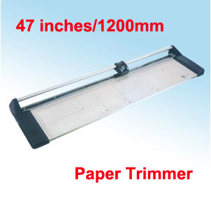 High Quality Portable 47 inches 1200MM Manual Paper PVC Cutter Professional Rotary Trimmer Fast Free shipping