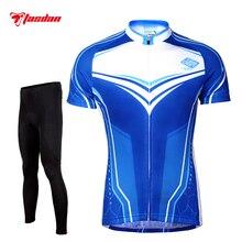 Tasdan Men's Cycling Jersey Sets Quick Dry Short Sleeve Cycling Shirts Gel Pad Cycling Tight Pants