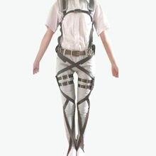 Ataque em titã cinto de reconhecimento corpo corpo ataque em titan cosply couro artificial anime japonês cintos ternos unissex ackerman