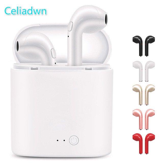 in-ear for I7 i7s tws Bluetooth Earphone Earbuds Headset wireless headphone With Mic For iphone xiaomi huawei with charging box