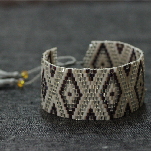 Beadwork Seed Beads Bracelets Peyote Bracelet Handmade Bead Beadwoven Flat Free Shipping 5pcs