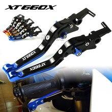 Motorcycle CNC Aluminum Brake Clutch Levers Adjustable Folding For Yamaha XT660/XT660X/XT660R/XT660Z 2004-2017 XT 660X/660R/660Z for yamaha xt660 xt660r xt660x 2004 2014 short clutch brake levers cnc adjustable 10 colors 2005 2006 2007 2008 2009 10 11 12