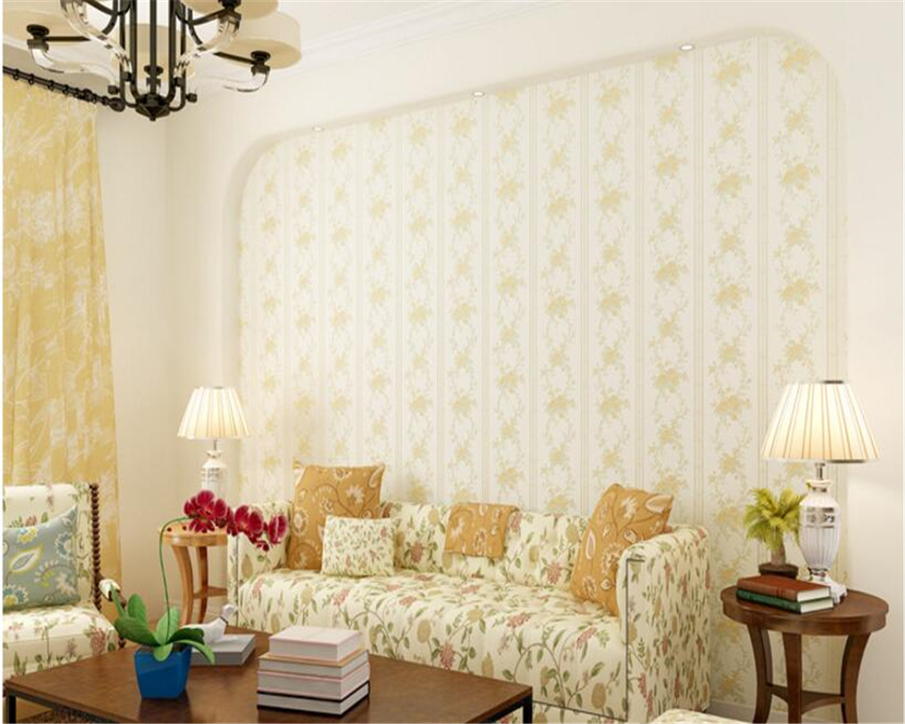 beibehang Pastoral flowers non-woven classic warm bedroom living room full of sofa TV background 3d wallpaper papel de parede beibehang papel de parede retro classic apple tree bird wallpaper bedroom living room background non woven pastoral wall paper