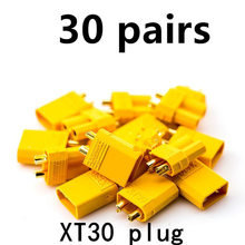 30 Pairs XT30 Connector 2.0mm Male Female Gold Banana Plug For RC Lipo Battery FPV Quadcopter Motor ESC 20 pairs gold tone metal rc banana bullet plug connector male female 4mm