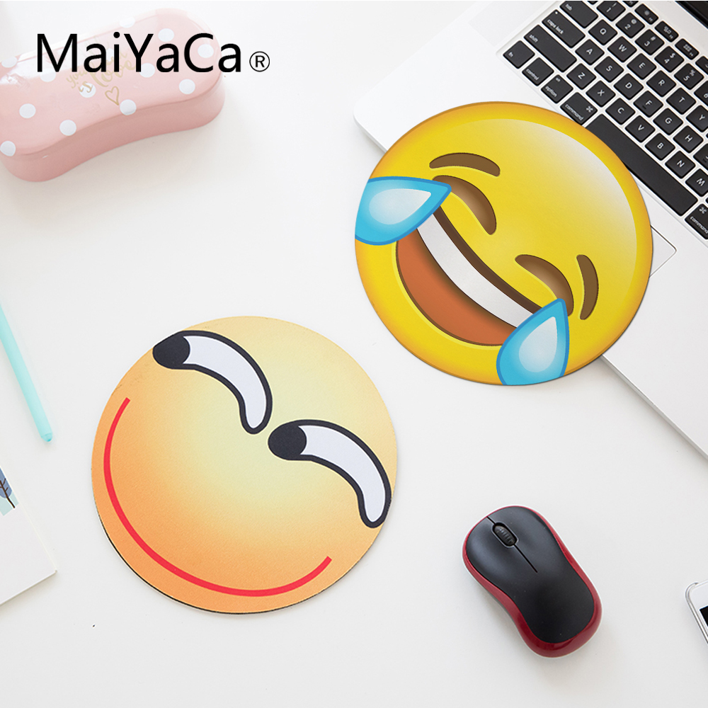 Maiyaca Helpless Laughing Expression New Small Size Round Mouse Pad Non-skid Rubber Pad 200mmx200mmx2mm And 220mmx220x2mm Large Assortment Mouse & Keyboards Computer & Office