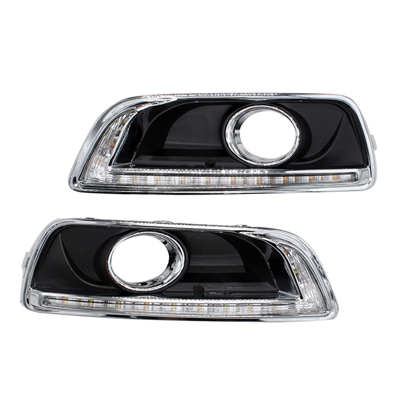 2Pcs/Set LED Daytime Running Light DRL For Chevrolet Malibu 2012-2014 With Turning Signal Fog Lamp Modify чехол на сиденье skyway chevrolet cobalt седан ch2 2