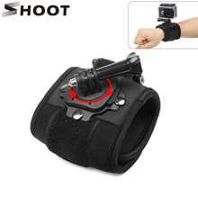 SHOOT 360 Degree Rotation Hand Wrist Strap for GoPro Hero 7 5 6 4 Session Xiaomi Yi 4K Lite SJ4000 H9 Arm Belt Go Pro Accessory(China)
