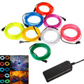10 Colors 5M/16.4Ft 3V Flexible Neon EL Wire Light Dance Party Decor Light