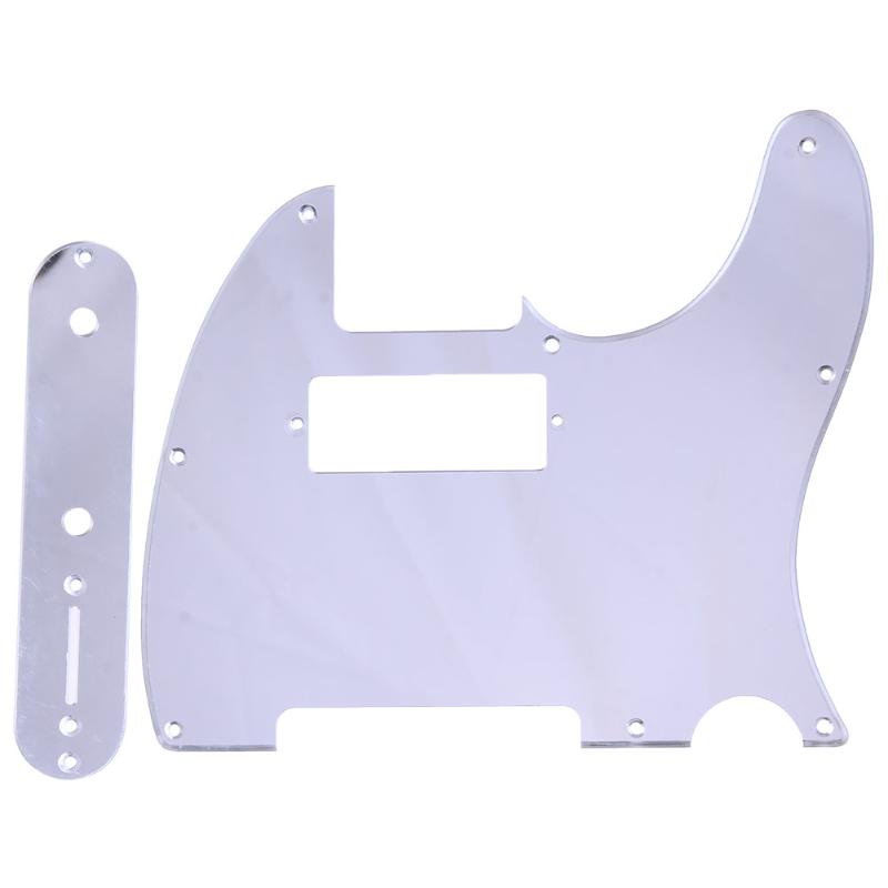 Guitar Tele Telecaster Electric Guitar Mini Hole Mirror Humbucking Pickguard+ Control Plate Set Guitar Parts & Accessories New  top quality new semi hollow models telecaster single f hole wood color electric guitar 22