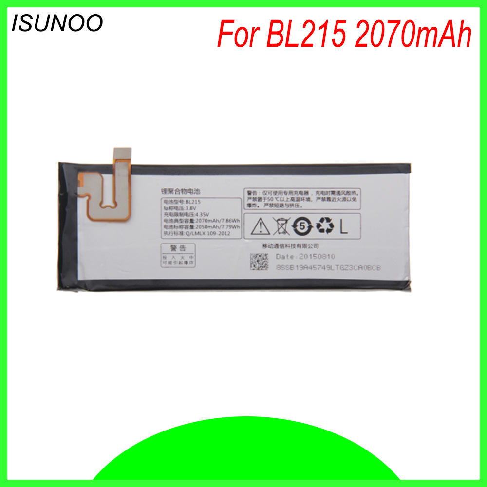 ISUNOO 2070mAh BL 215 <font><b>battery</b></font> for <font><b>Lenovo</b></font> Vibe X <font><b>S960</b></font> <font><b>battery</b></font> for s968T BL215 BL-215 Built-in <font><b>battery</b></font> with toos image