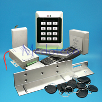 מלא ערכת מערכת בקרת גישת כרטיס קירבת 125 khz EM כרטיס גישה בקר עם 280 kg מנעול מגנטי ZL סוגר-בערכות בקרת גישה מתוך אבטחה והגנה באתר
