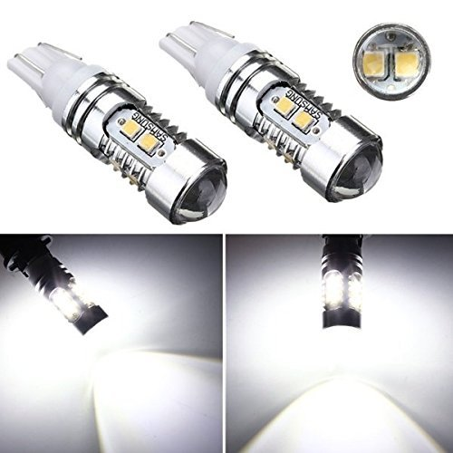 2X Super Bright T10 Samsung 2323 SMD Chips High Power White LED Reverse Backup Light Projector Lens 921 912 W5W 2 x error free super bright white led bulbs for backup reverse light 921 912 t15 w16w for peugeot 408