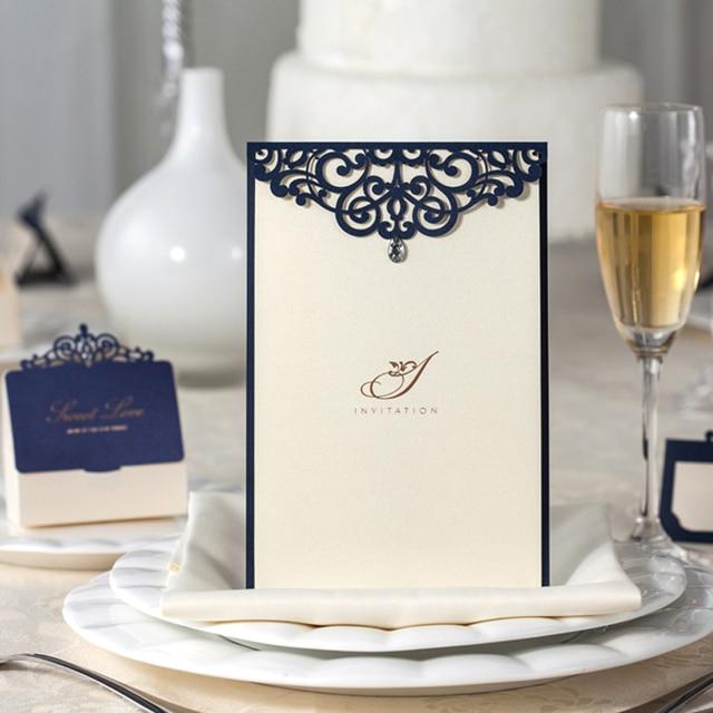 20 Piece Paper Wedding Menu Cards Laser Cut Marriage Menu Cards