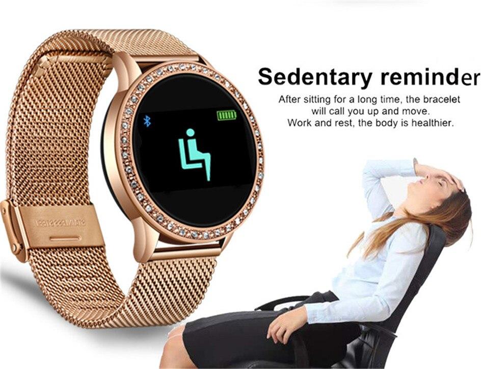 HTB1b4qSboD1gK0jSZFGq6zd3FXaW LIGE New Smart Bracelet Women Health Watch Activity Fitness Tracker Blood Pressure Heart Rate Monitor Smart Wristband fit bit