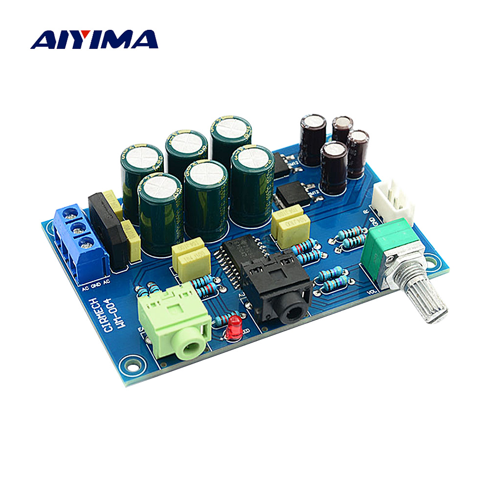 AIYIMA TPA6120 Headphone Amplifier Board Amplificador TPA6120 A2 Mini Double Channel Headphone Amplifier