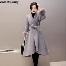 d5c879d0390207 2018 neue Winter Kleidung Koreanische Version Dame Sexy Nachahmung Fuchs  haar Große Größe Lange Jacke Weibliche Wolle Mantel Dam.
