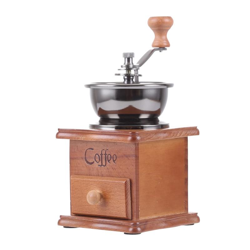Coffee Spice Grinder Hand Grinding Machine Handle Crank Roller Drive Grain Burr Mill Tools  9 DC156 spices grinder machine