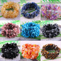 "Free Shipping Stretch Chip beads Weave Natural Carnelian Agate Turquoise Quartz Lapis Lazuli Crystal Bracelet 7"" 1Pcs"