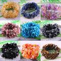 "Free Shipping Stretch Chip beads Weave Natural Carnelian Agate Turquoise Quartz Lapis Lazuli Crystal Bracelet 7"" 1Pcs"