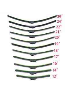 Universal U-type Soft Frameless Bracketless Rubber Car Windshield Wiper Blade 12