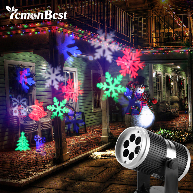 4 types christmas led projector light disco dj activated moving dynamic snowflake rgb halloween christmas decorations