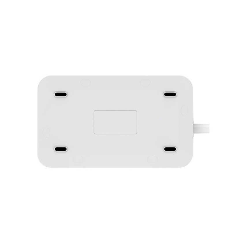 Nowy 3 brytyjskie gniazdka elektryczne Combo 6 ładowarka USB pulpit ładowania pulpitu rozszerzenie gniazdo zasilania z przewód zasilający dla domu biura przy użyciu