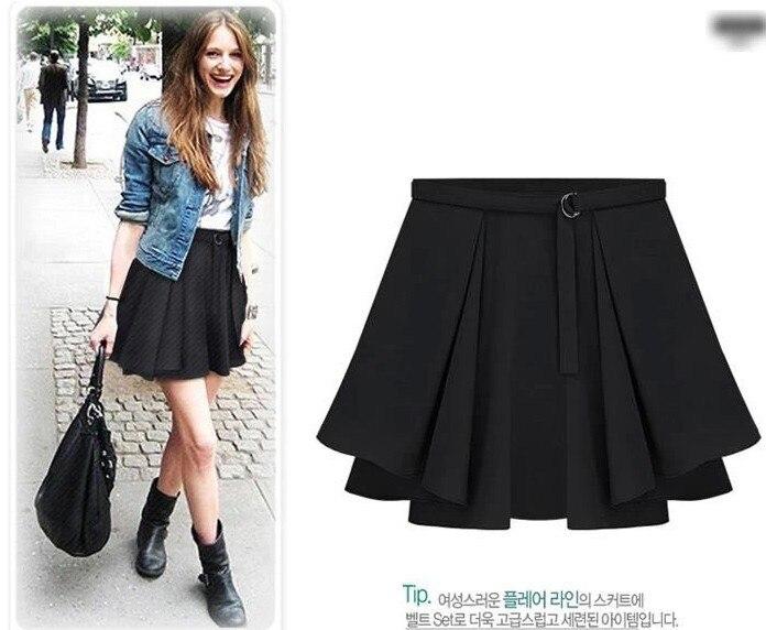 4b3f60d70 Classic mujer moda falda del busto del Color sólido inferior de la ...
