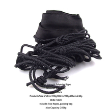 Luck Stone Brand Hammock Tie Rope Reinforced by Widening Sleeping Bags Rope Tent High strength Polyester Bandage High Quality
