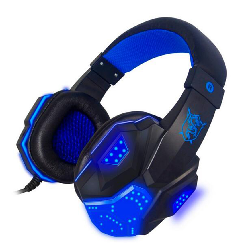 Plextone PC780 Bass Stereo Gaming Headphone Headsets Headband + LED Light with Mic Noise Reduction For Computer Gamer PC led bass hd gaming headset mic stereo computer gamer over ear headband headphone noise cancelling with microphone for pc game