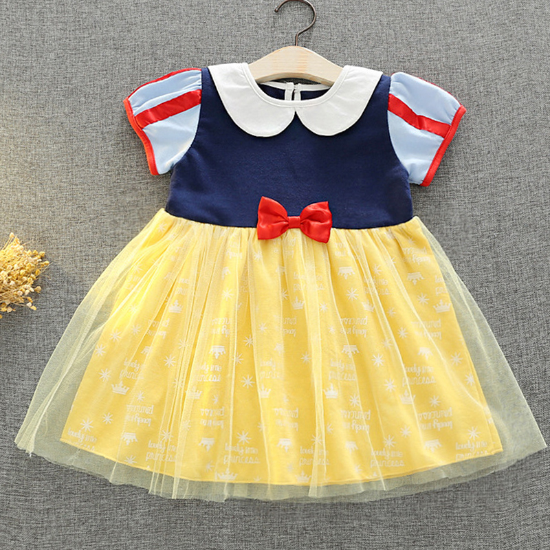 276d62fc0 Baby Girl Dresses 2018 Summer party cosplay Snow White princess tutu ...