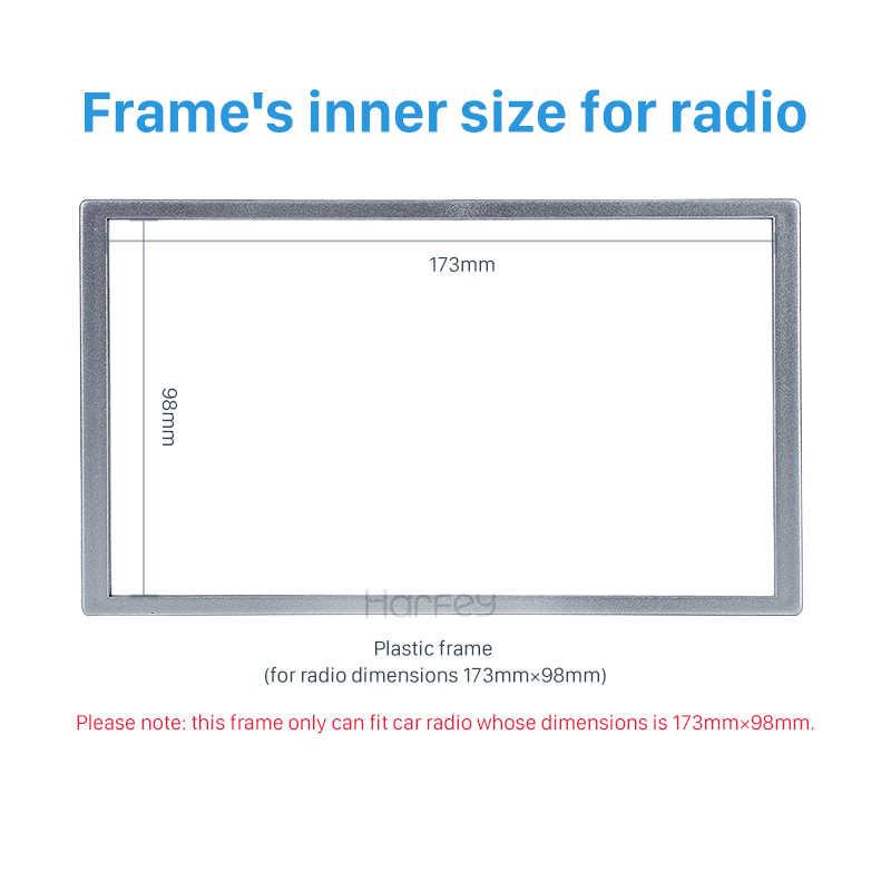 Harfey uniwersalny srebrny 173*98mm 2Din uchwyt do deski rozdzielczej Radio panel ramka do HONDA FIT Jazz C-RV HR-RV Odyssey Prelude Civic