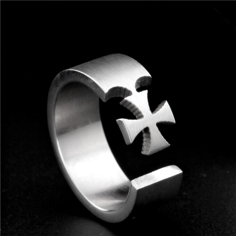8mm Titanium Ring For Men Style Finger Cross Ring