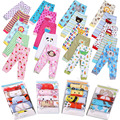 Primavera bebé PP pantalones niños pantalones de algodón 5 unids/lote de dibujos animados niña/niño elástico de la cintura
