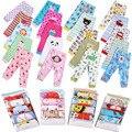 Primavera dos desenhos animados do bebê PP calças do bebê crianças calças de algodão 5 peças/lote menina/menino cintura elástica
