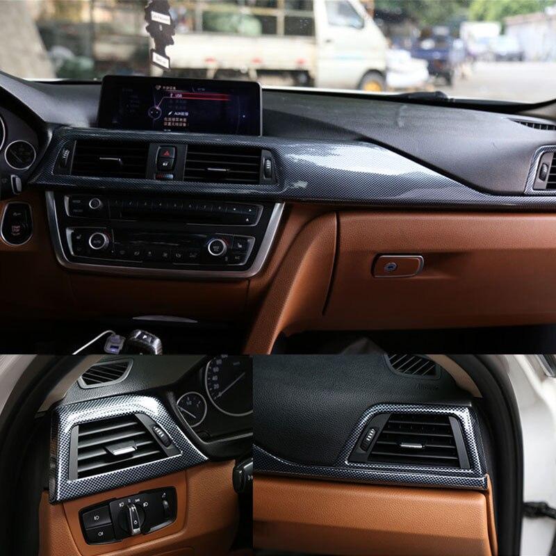 3 pièces Climatisation + Console centrale Cadre revêtement d'habillage Pour BMW Série 3 F30 F31 3GT F34 13-16 et 4 Série F32 F33 F36 14-17