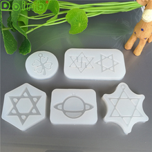 Planet Clover Hexagram Silicone Mold Fondant Cake decorating Tools DIY Hand Ornaments Epoxy Resin Molds for Jewelry