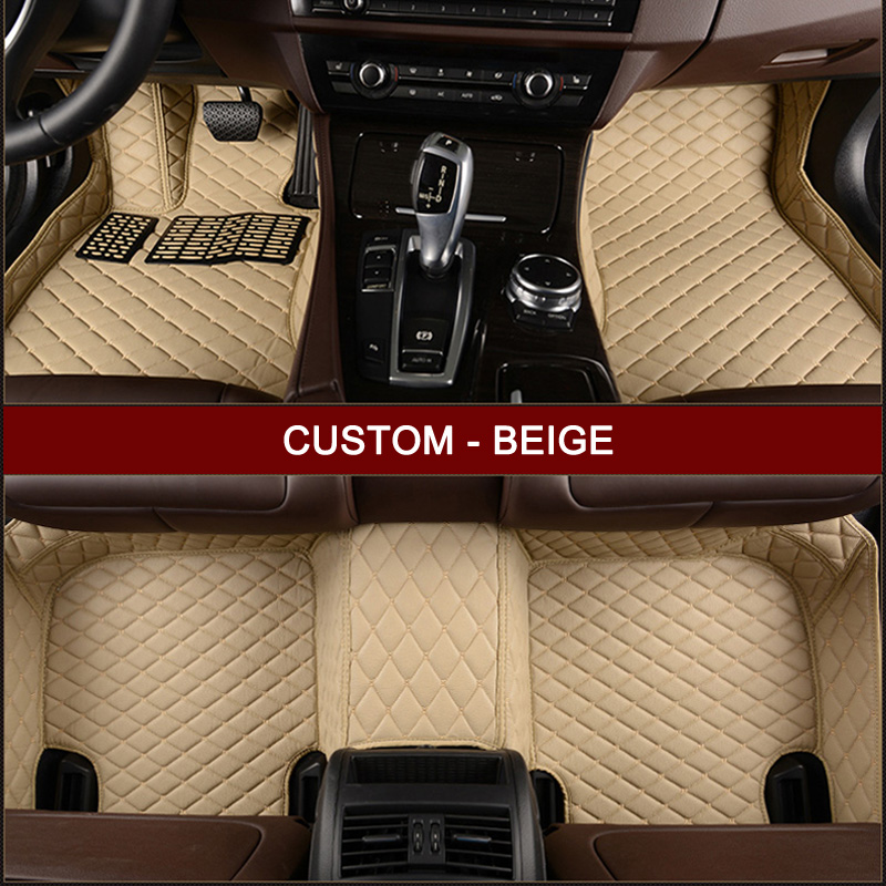 US $73 66 42% OFF|Custom car floor mats for Jaguar All Models XF XK XE XJ F  PACE F TYPE car accessories styling leather Anti slip carpet liners-in