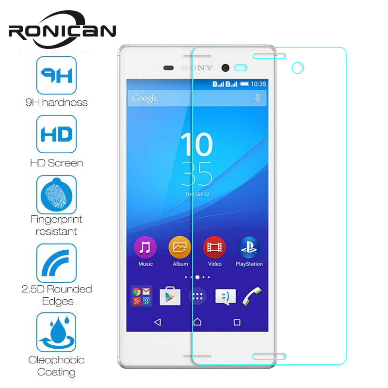 RONICAN Tempered Glass For Sony Xperia M4 Aqua M4 E2303 Dual E2312 Screen Protector 9H 2.5D 0.26mm Protective Film Guard