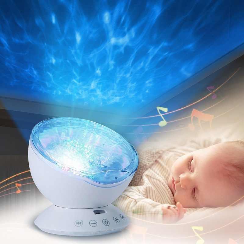 Детские люминесцентные игрушки Ночной свет звезда с изображением неба и Океана Волна музыкальный плеер с лампой для малышей и детей постарше светодиодный успокаивание сна светильники подарки