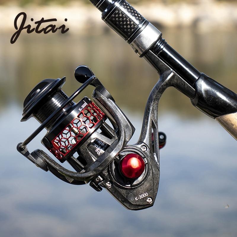 JTIAI Carbon Fiber Ultralight Wheel 9 1BBs Spinning Fishing Reel Coil Carp Lure Baitcasting Reel Moulinet Carretilha De Pesca in Fishing Reels from Sports Entertainment